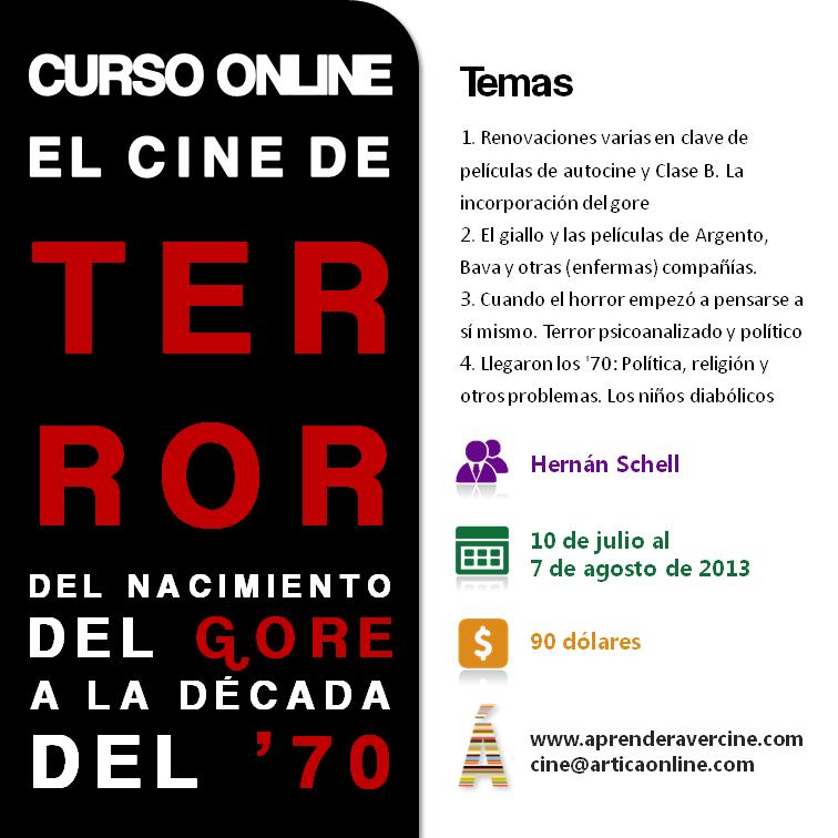 Curso online El cine de terror: del nacimiento del gore a la década del '70